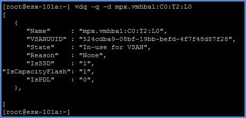 vsan-command-vdq-q-d