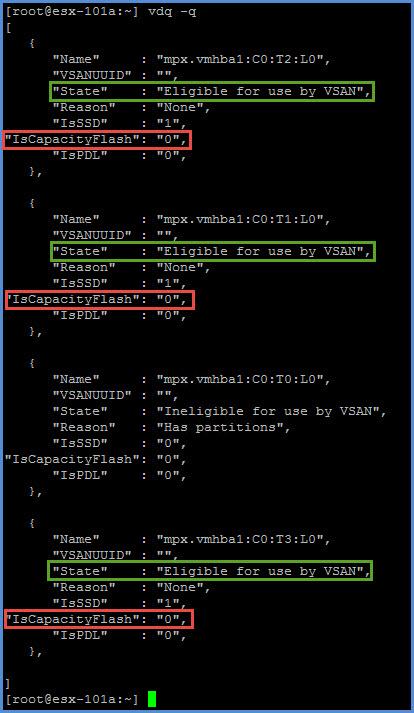 VSAN vdq -q command.jpg