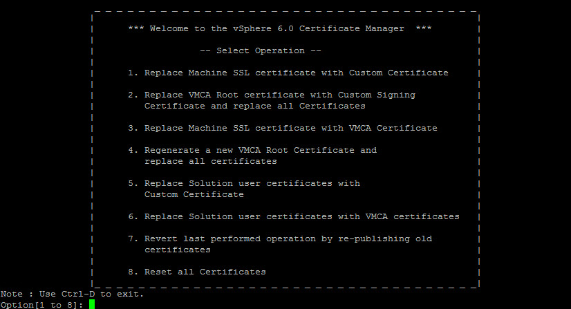 vmca 65 as an intermediate ca the wifi cable - End User Certificate Template 2