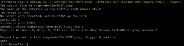 web-02 packet capture blocked stage 1