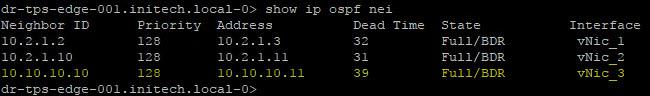 XX - OSPF adjacency ESG B