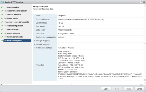 Installing vRealize Network Insight – The Wifi-Cable
