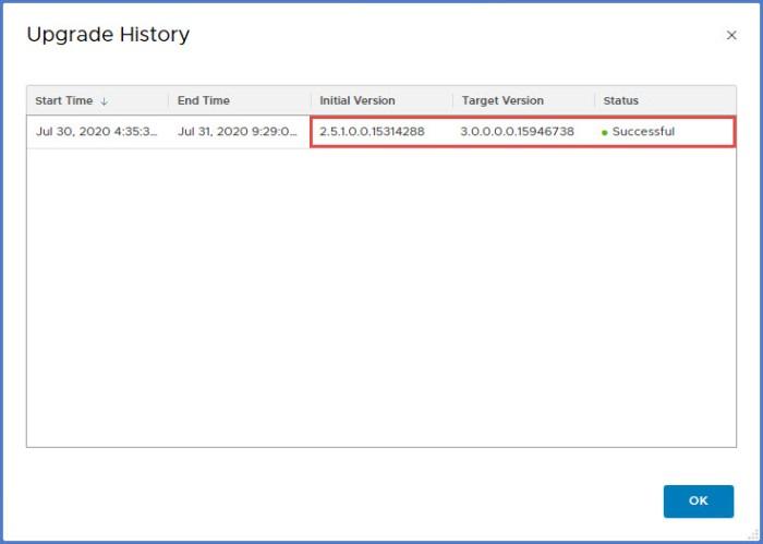20b - Upgrade History